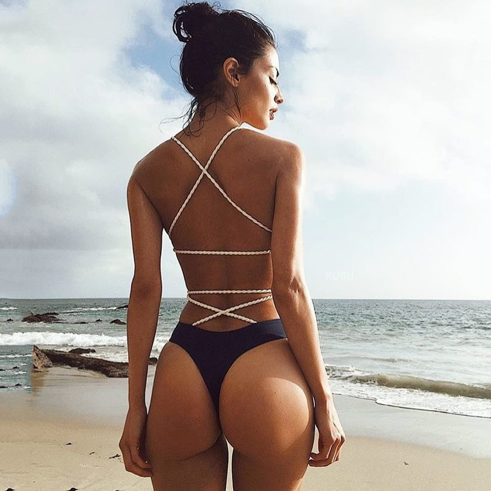 Sexy One Piece Swimsuit Backless Swimwear