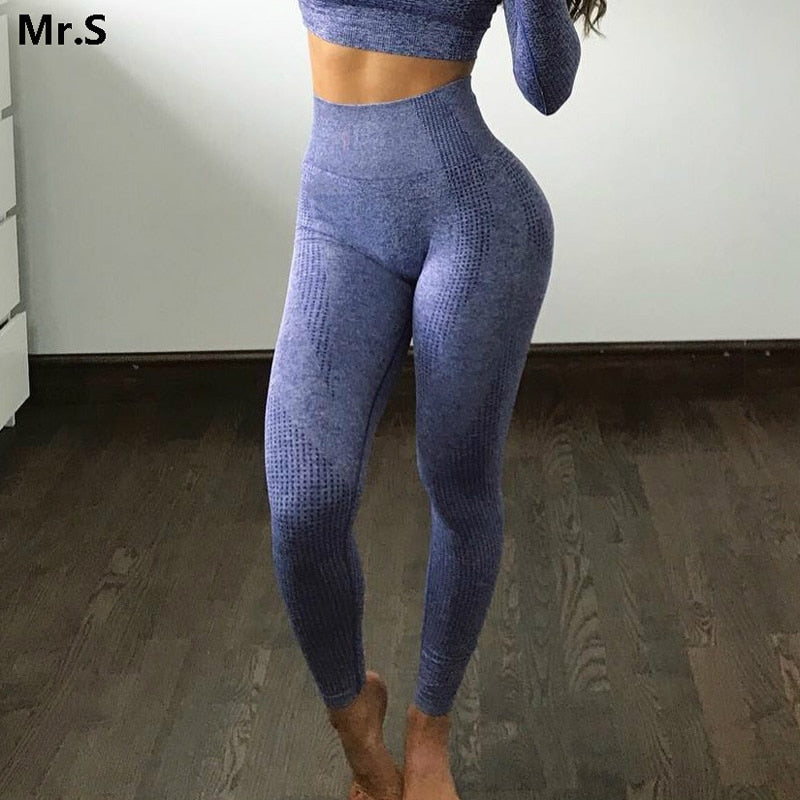 Women Seamless Leggings High Waist Booty