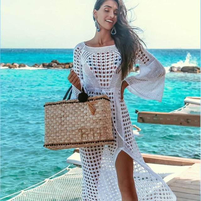 New Sexy Cover Up Bikini Women Swimwear Mesh Beach Dress Tunic Robe