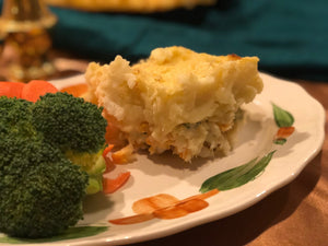 Home cooked fish pie single serve