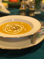 home cooked pumpkin soup single serve