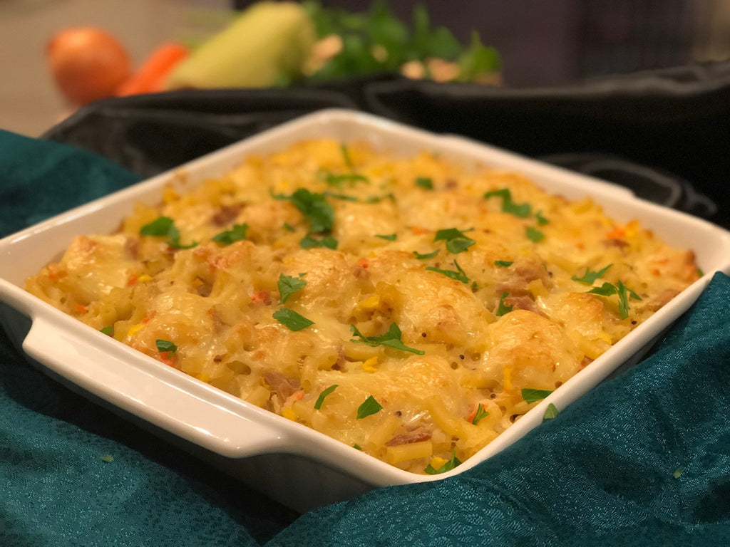 Home cooked tuna mornay family size