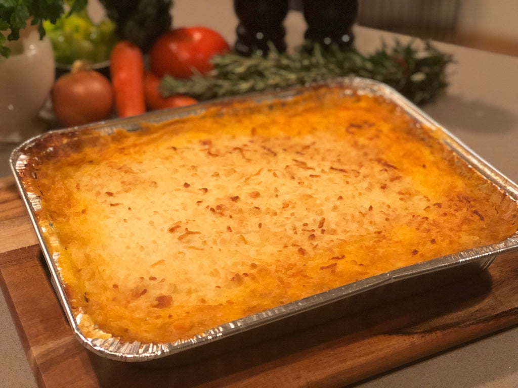 Home cooked cottage pie family size