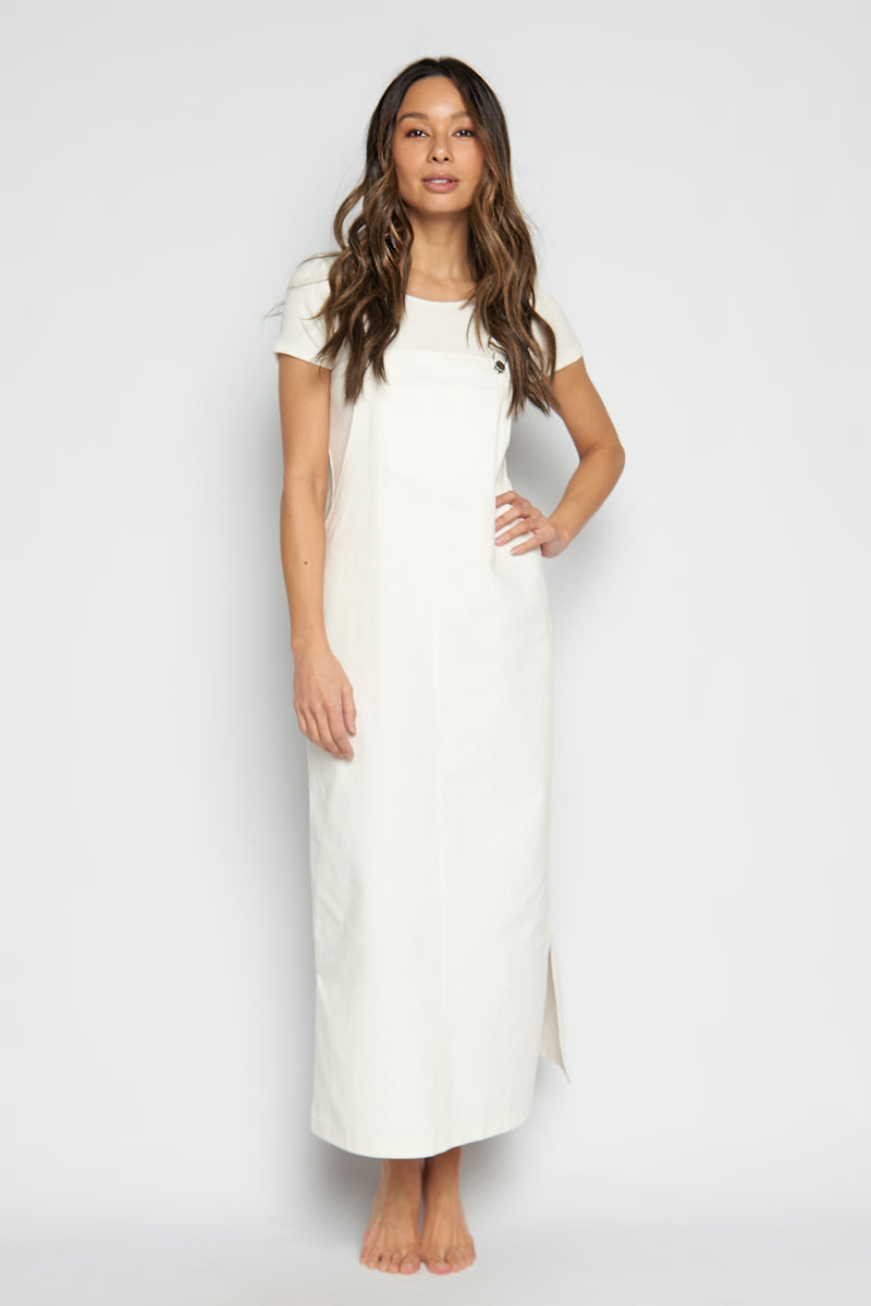 White Denim Maxi