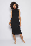 Sleeveless Ribbed Mock Dress
