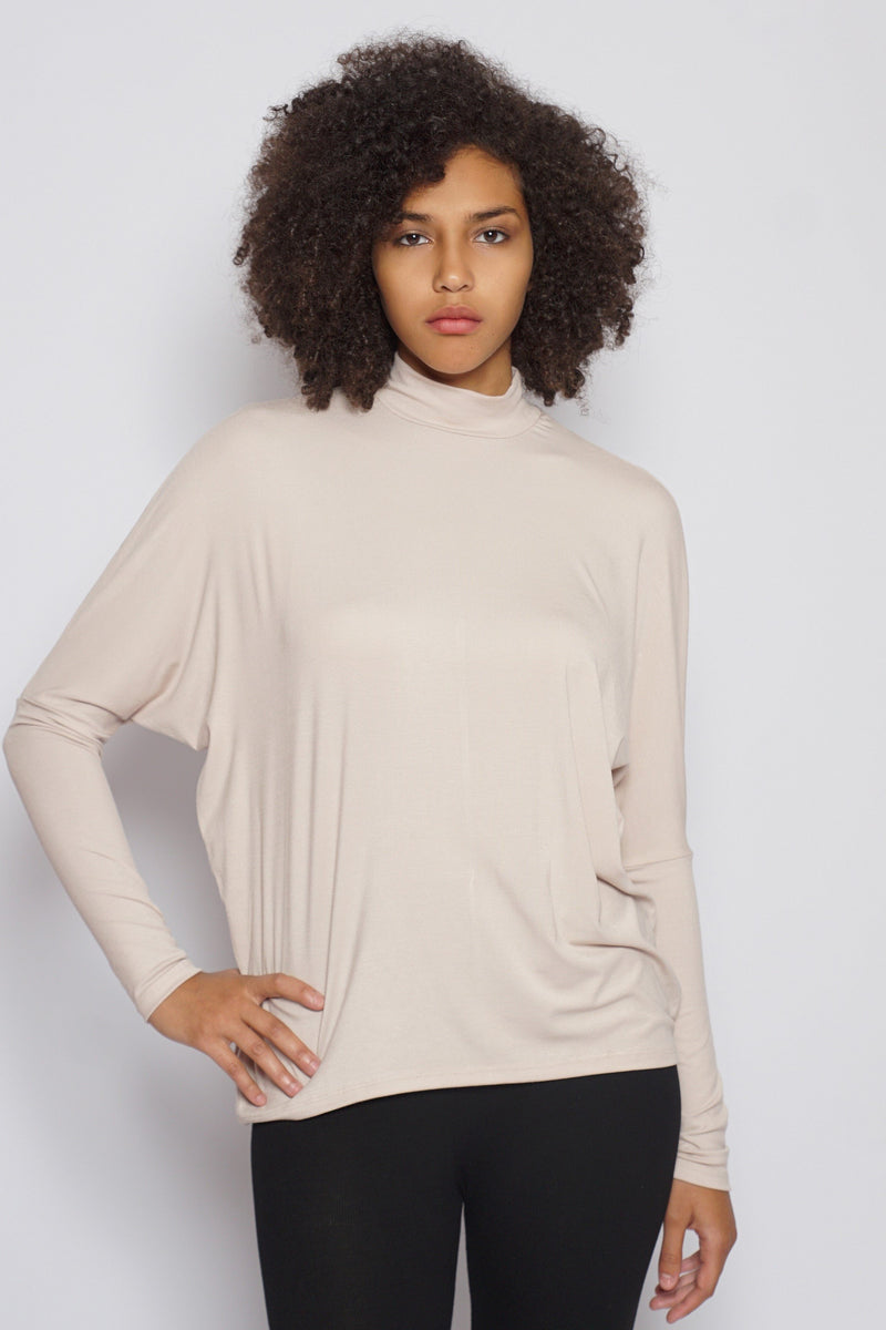 Mock Neck Tie Top