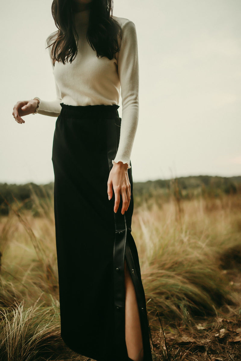 Leather Maxi Skirt