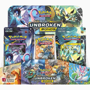 Pokemon Sun & Moon: Unbroken Bonds Launch Kit Display