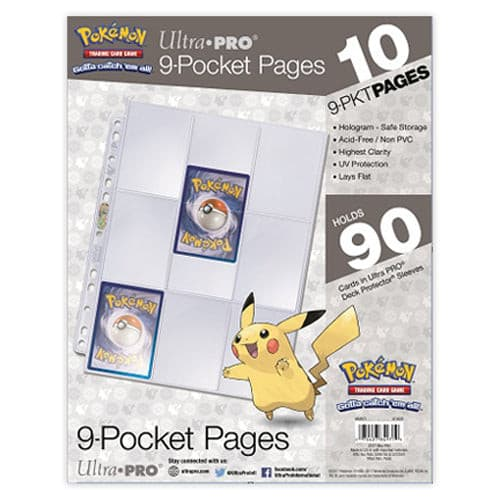 Ultra Pro - 9 Pocket 11 Hole Pages 10 Pack - Pokemon