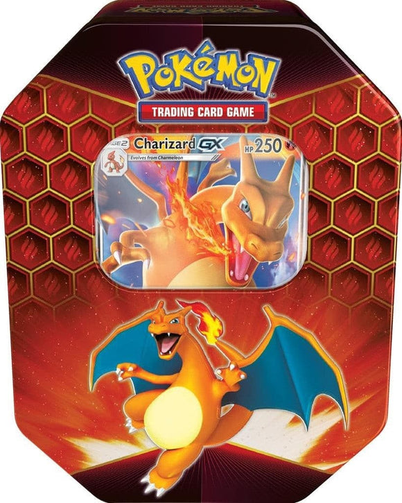 Pokemon Hidden Fates Charizard GX Tin Box