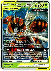 Pheromosa & Buzzwole Tag Team GX TEAM UP - ULTRA RARE 1/214 Pokemon NM/MT