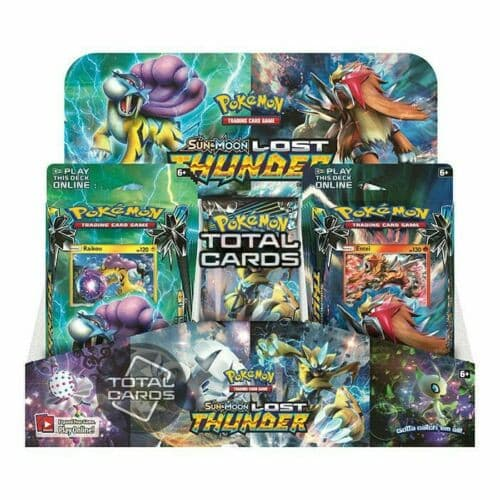 Pokemon Sun & Moon: Lost Thunder Launch Kit Display