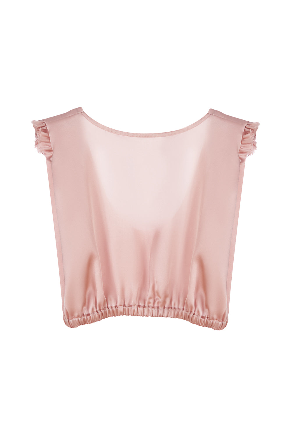 Crop Top With Ruffles - SILKSISTERSvictory