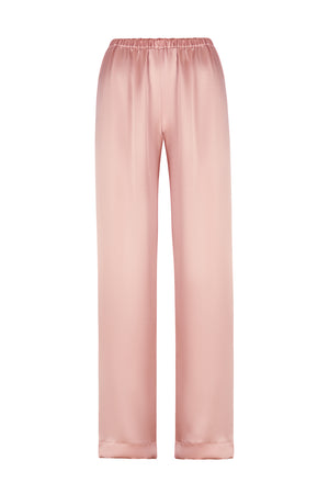 Wide Leg Silk Satin Pants - SILKSISTERSvictory