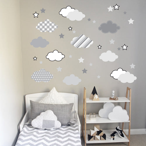 Cloud Wall Decal Grey