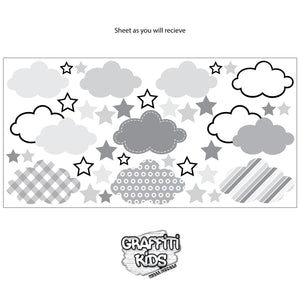 Cloud Wall Decal Blue