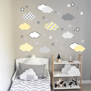Cloud Wall Decal Pink