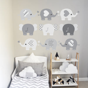 Elephant Wall Decal Pink