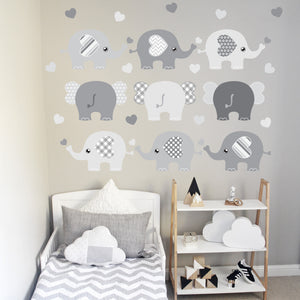 Elephant Wall Decal Grey