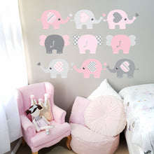Elephant Wall Decal Blue