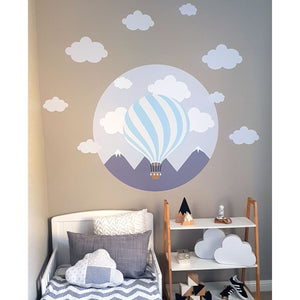 Hot Air Balloon Wall Decal Pink - Large
