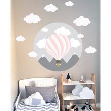 Hot Air Balloon Wall Decal Blue - Large