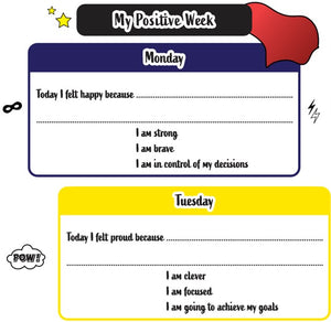 My Positive Week Printable - Super hero