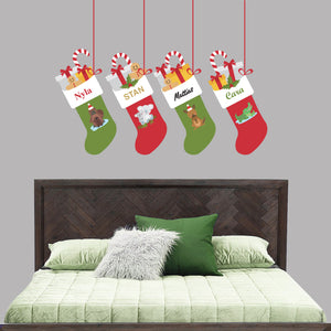 Aussie Animal Christmas Stocking Wall Decal
