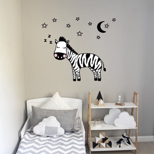Zzzebra Wall Decal Pink