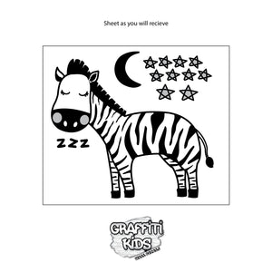 Zzzebra Wall Decal Grey