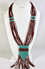 Load image into Gallery viewer, Geometric Necklace - Copper & Aqua