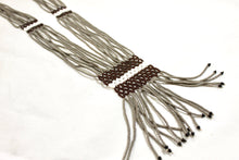 Load image into Gallery viewer, Geometric Necklace - Gray, White & Brown