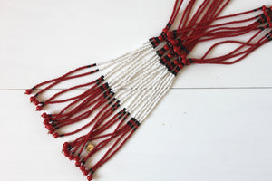 Murle Necklace - Red & White
