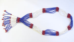 Murle Necklace - Red, White & Blue