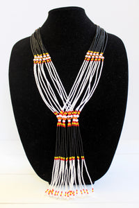 Murle Necklace - Black, White, Red & Yellow