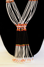 Load image into Gallery viewer, Murle Necklace - Black, White, Red & Yellow