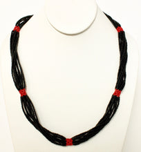 Load image into Gallery viewer, Shilluk Necklace - Black & Red