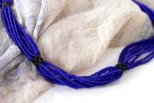 Load image into Gallery viewer, Shilluk Necklace - Royal Blue & Black
