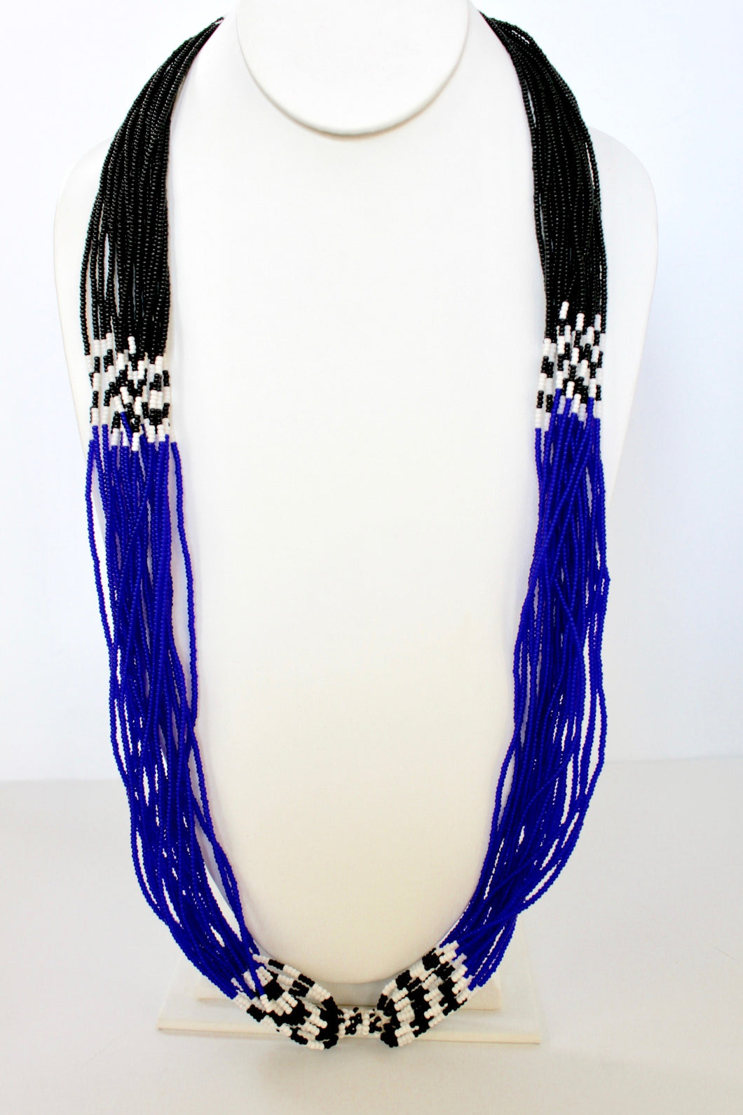 Mundari Twist Necklace - Cobalt Blue & Black