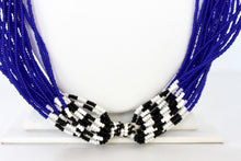 Load image into Gallery viewer, Mundari Twist Necklace - Cobalt Blue & Black