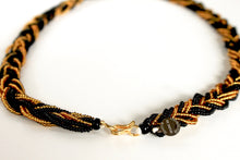 Load image into Gallery viewer, Braided Necklace - Black & Gold