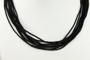 10 Strand Necklace - Solid Black