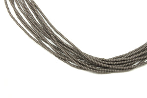 10 Strand Necklace - Solid Gray