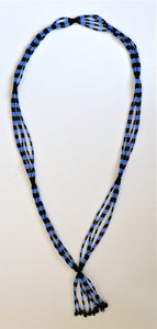 Nilotic Tassel Necklace - Blue & Black