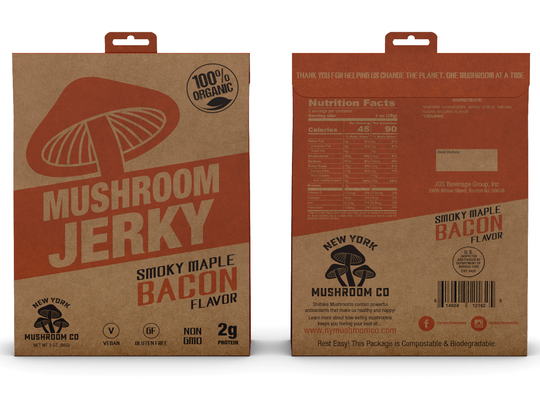Smoky Maple Bacon Mushroom Jerky - Nymushroomco