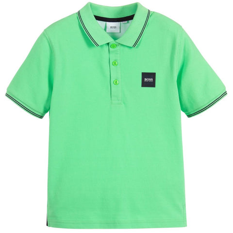 BOSS Boys Green Polo