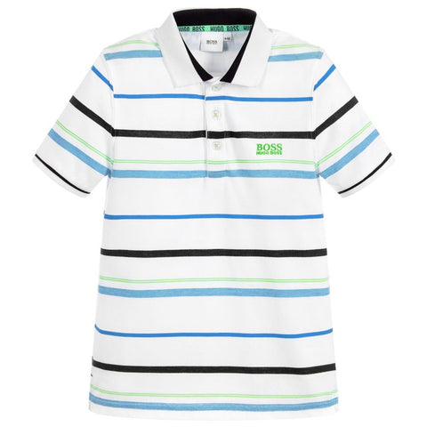 BOSS Boys Striped Polo