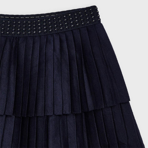 Mayoral Pleated suede skirt