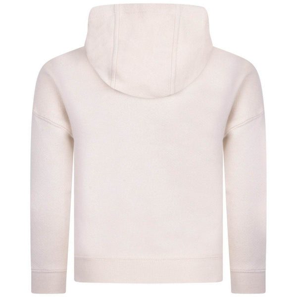 Zadig & Voltaire Girls Beige Hooded Logo Sweater