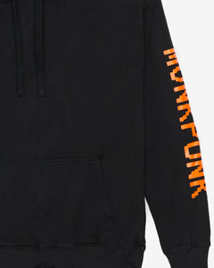 The Black Hoodie Orange Logo